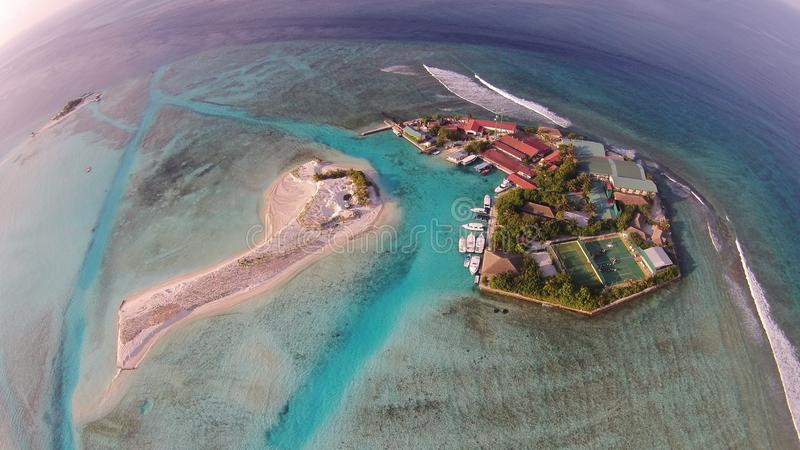 Maldivian χωριό στοκ φωτογραφίες