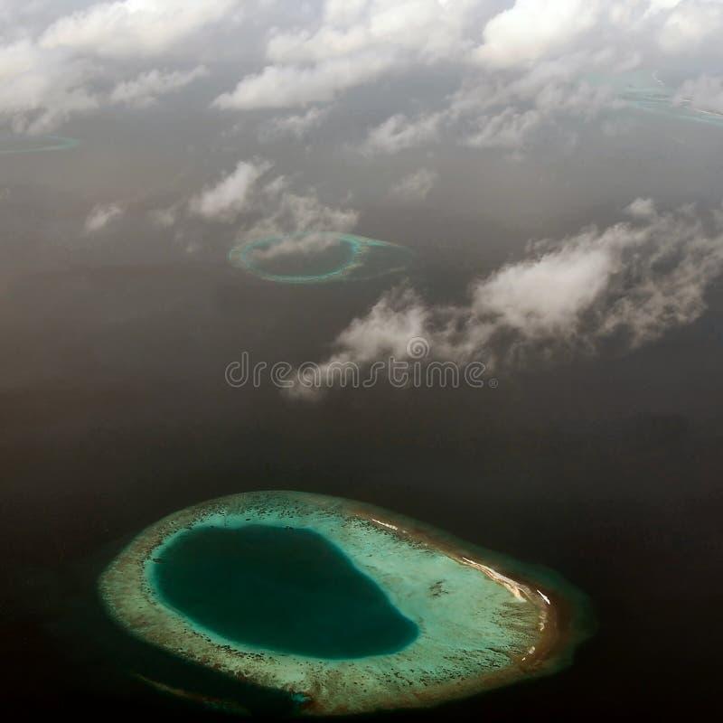 Maldivian atoll stock images