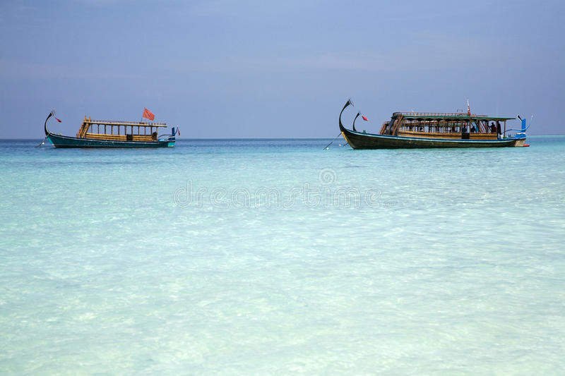 Maldivian Fishing Boats Stock Photo