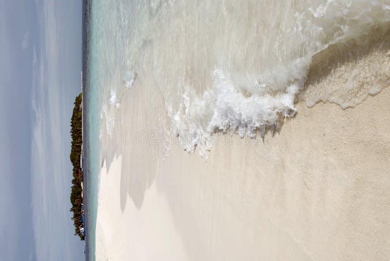 Maldivian island stock photo