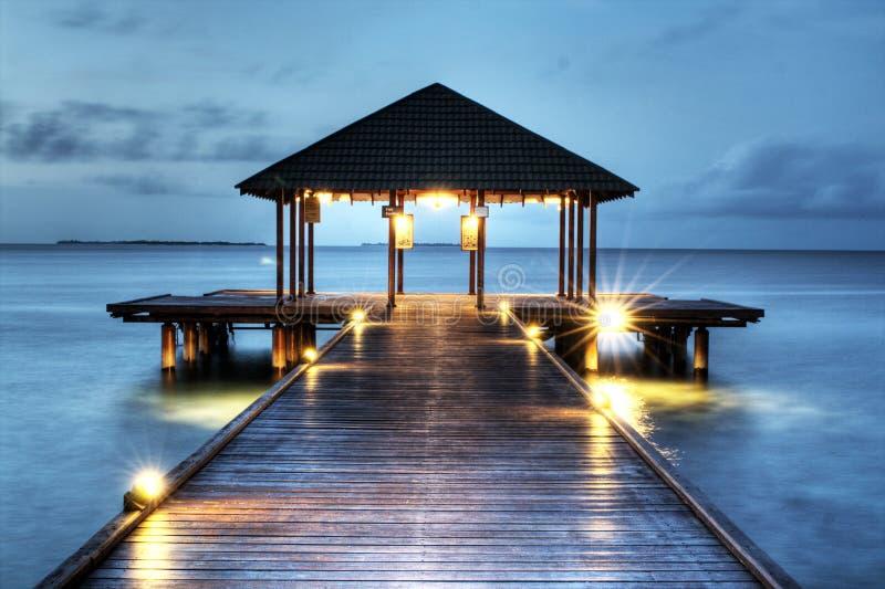 maldivian molo obraz stock
