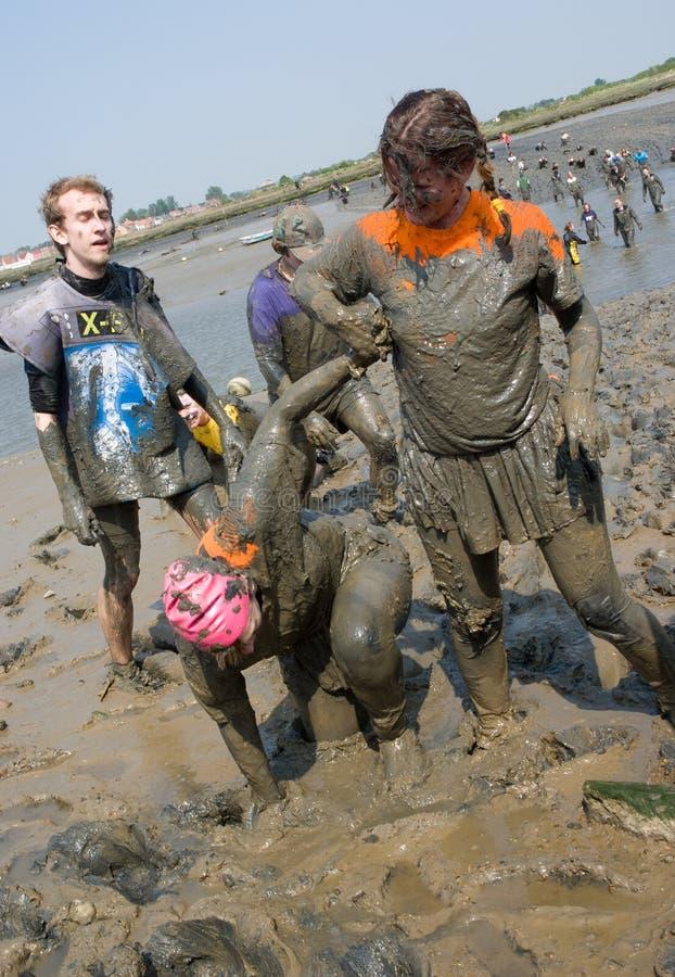 Download Maldon Mud Race 2011 editorial stock image. Image of lifting - 19872514
