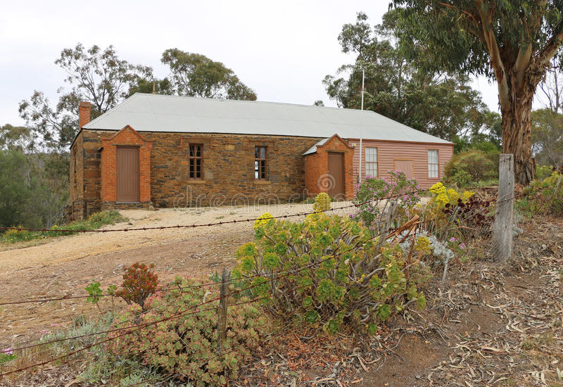 Maldon's former Anglican Denominational (Penny) School, where children once paid a penny a day for their schooling, royalty free stock photos