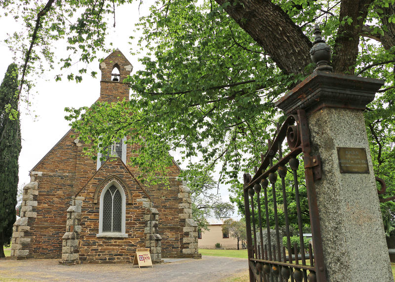 Download Maldon's Heritage-listed Holy Trinity Anglican Church (1861) Is A Gothic Revival Structure Of Local Schist And Grey Granite Editorial Photography - Image of building, descriptive: 62380847