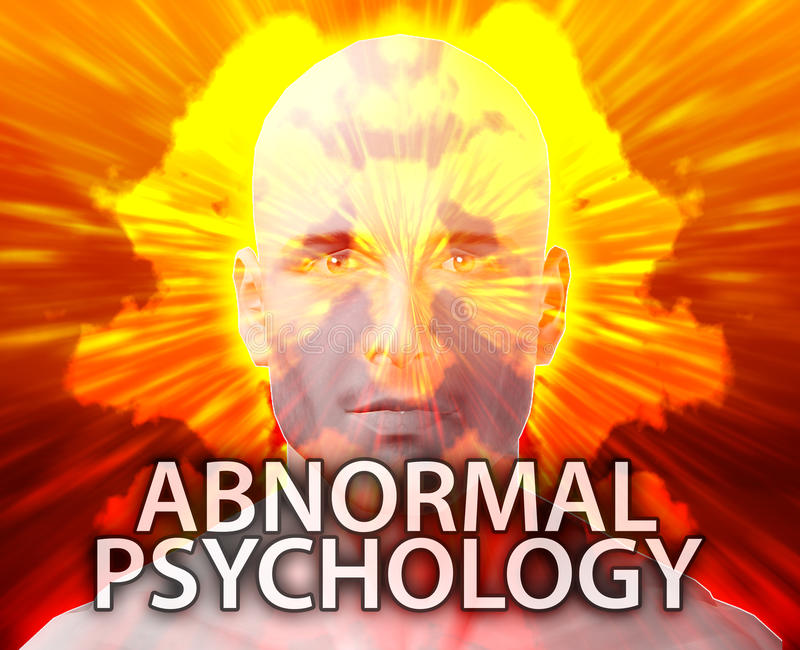 Male abnormal psychology royalty free illustration