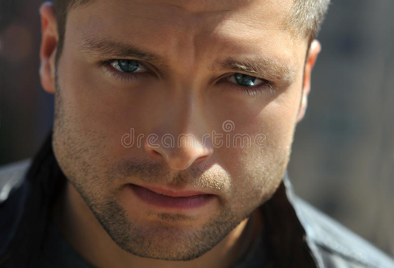 Male actor headshot stock photography