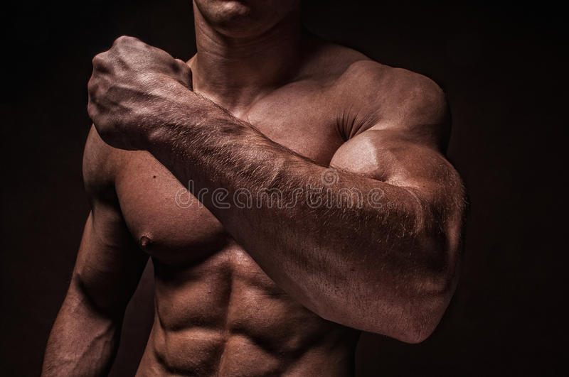 Male arms stock image