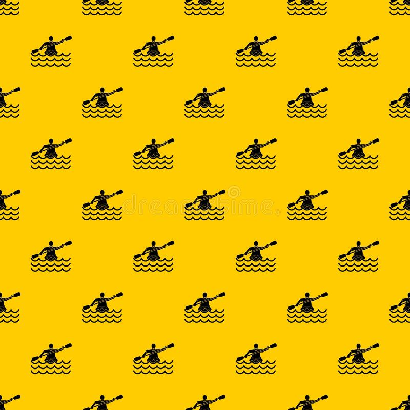 Male athlete in a canoe pattern vector. Male athlete in a canoe pattern seamless vector repeat geometric yellow for any design vector illustration