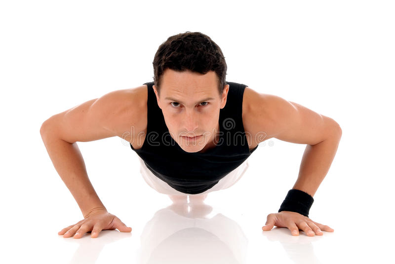 Male athlete ftiness royalty free stock photography