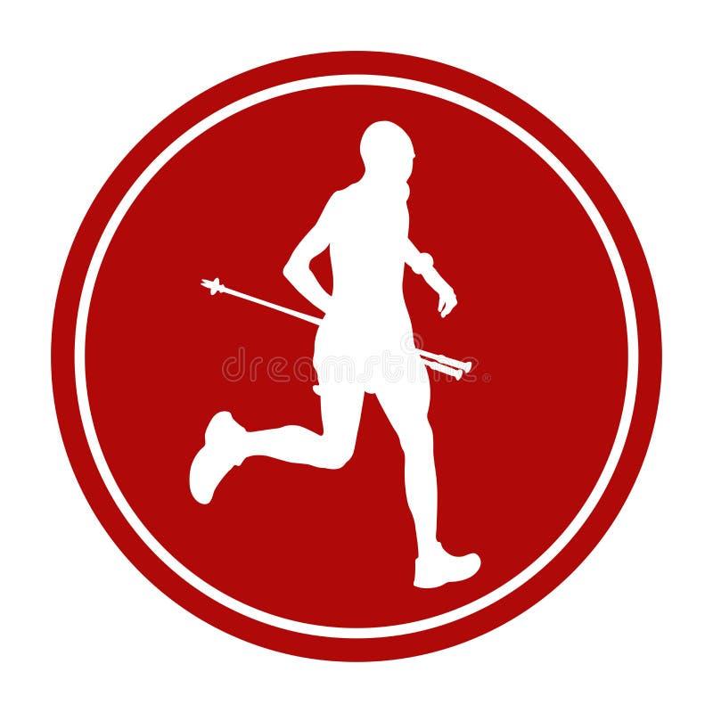 Male athlete runner skyrunning. Sports sign icon male athlete runner skyrunning stock illustration