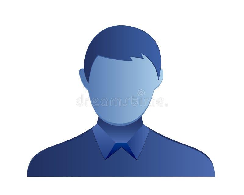 Male avatar icon stock illustration
