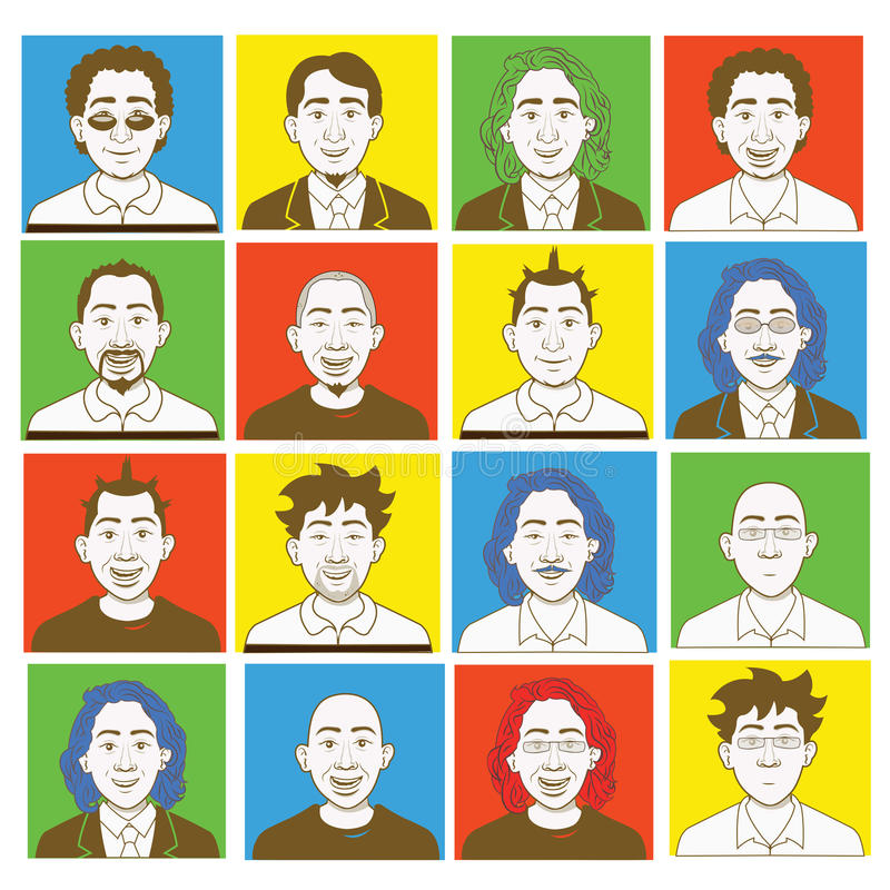 Download Male Avatar Kit Creation Stock Image - Image: 24432301