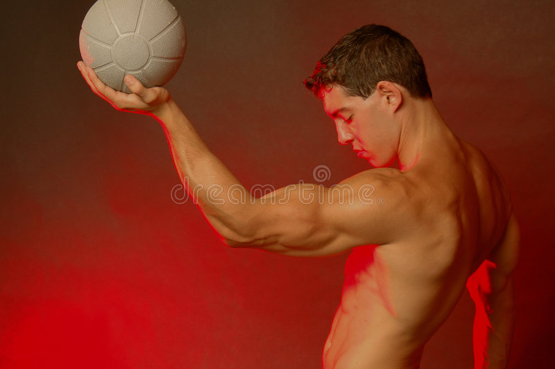 Male with ball stock photography