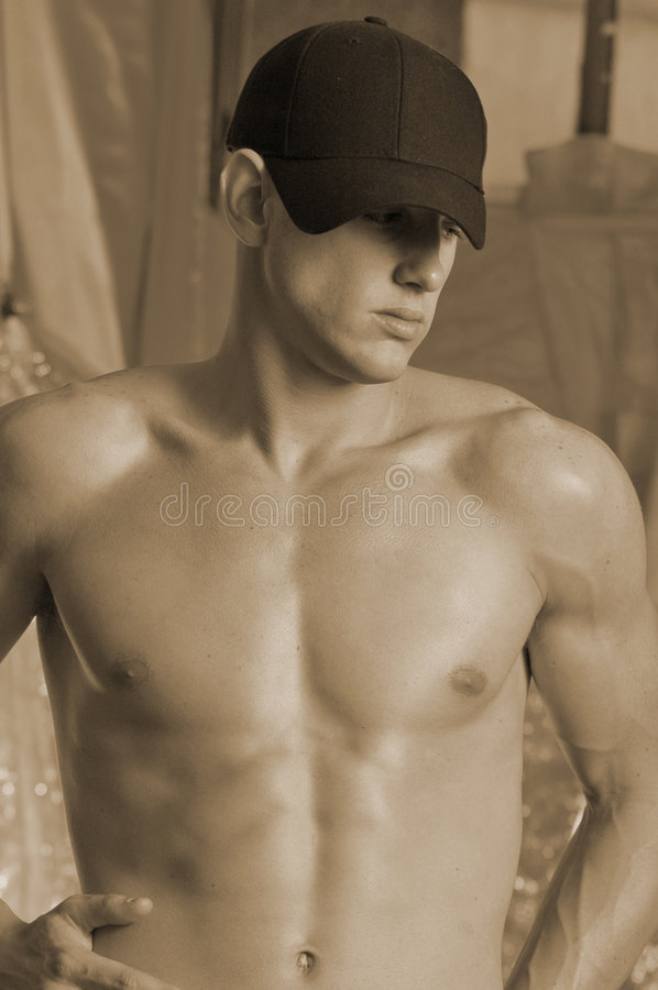 Male with ball cap 2 royalty free stock image