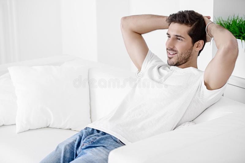Male beauty and health stock image