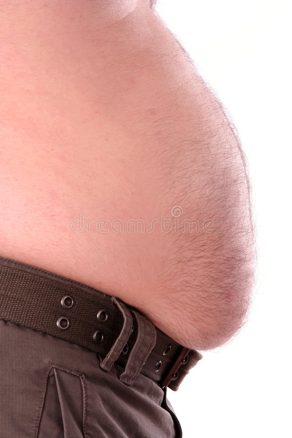 Male big stomach royalty free stock photography