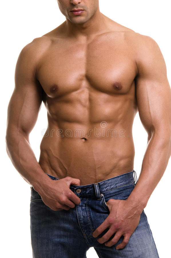 The male body. stock photography