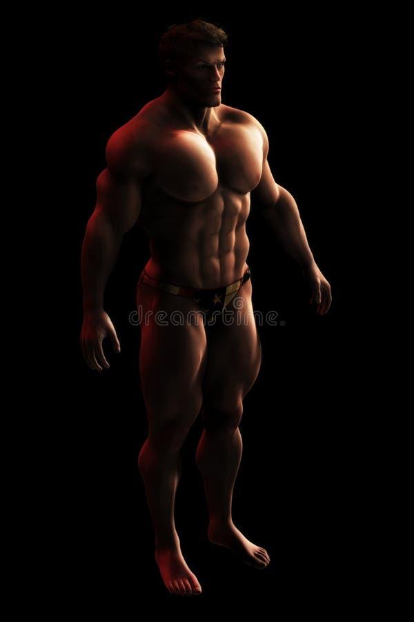 Male Bodylbuilder Illustration Royalty Free Stock Photos