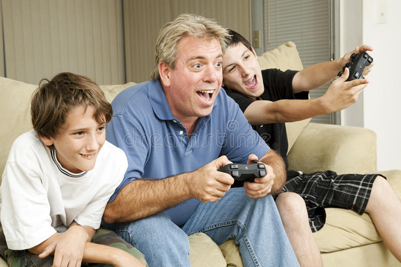 Download Male Bonding - Video Games stock image. Image of caucasian - 19491173