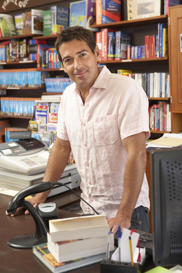 Download Male bookshop proprietor stock photo. Image of store - 10971798