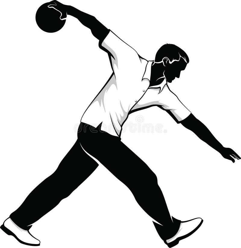 Download Male Bowler stock vector. Image of activity, recreation - 28723000