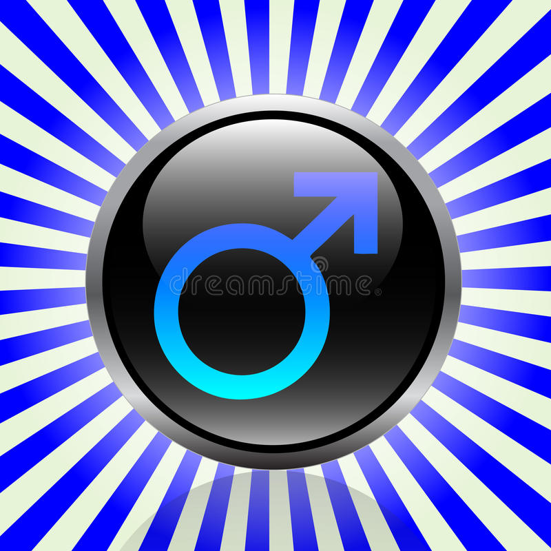Male button vector illustration