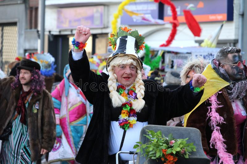 Male Carnival Goer royalty free stock photos