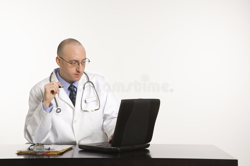 Male Caucasian doctor. royalty free stock images