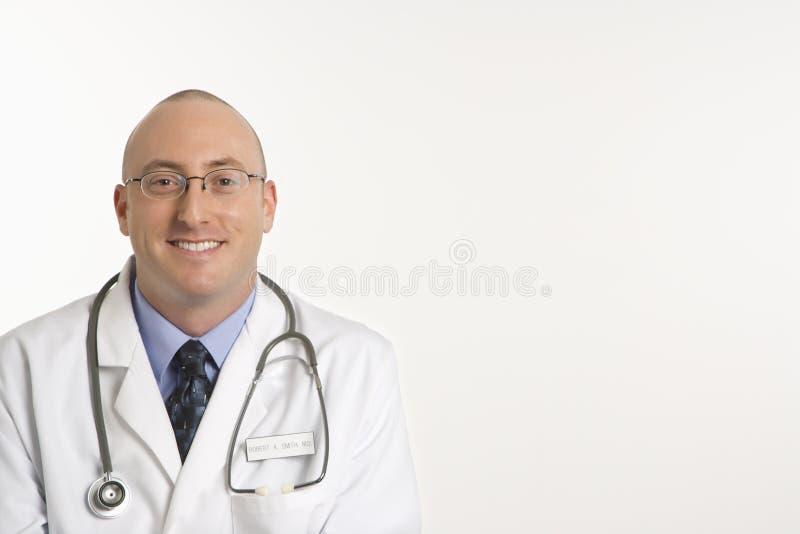 Male Caucasian doctor. stock image