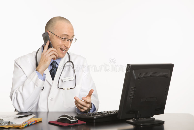 Male Caucasian doctor. royalty free stock photography