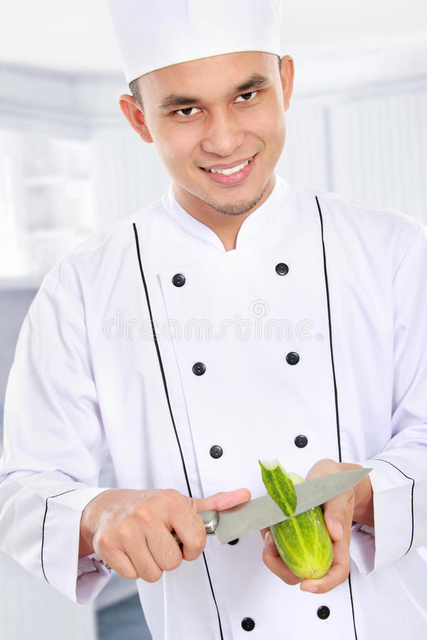 Download Male Chef Preparing Some Food Stock Image - Image: 29062679