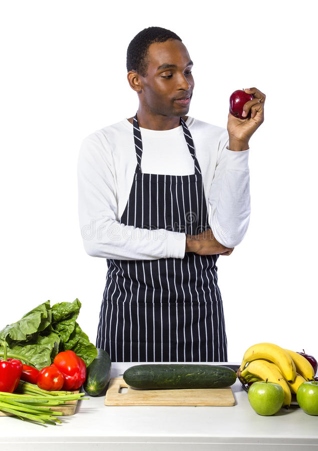 Male Chef on a White Background royalty free stock image