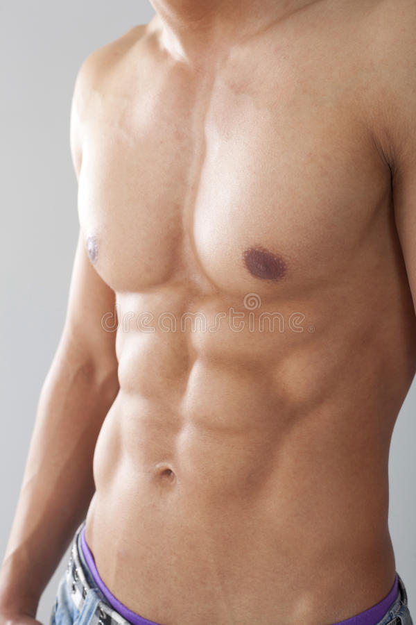 Male chest and muscles stock photography