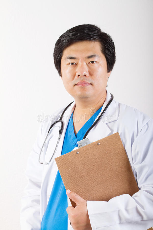 Male chinese doctor stock photography