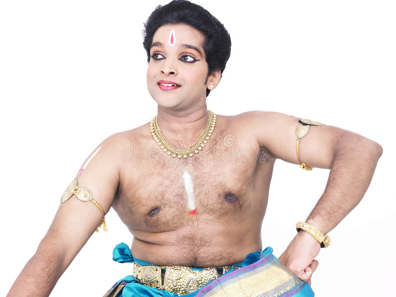 Male classical dancer from asia