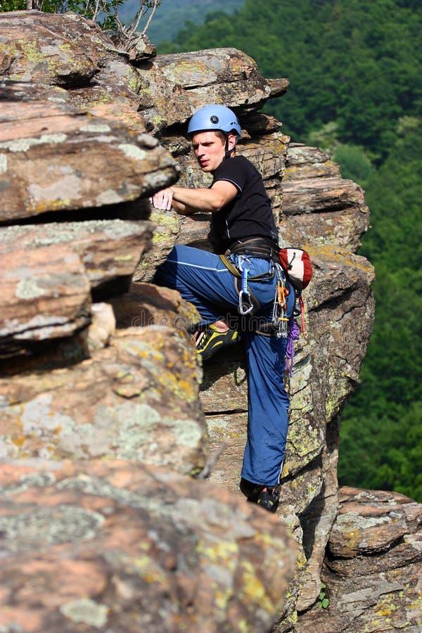 Male climber royalty free stock photo