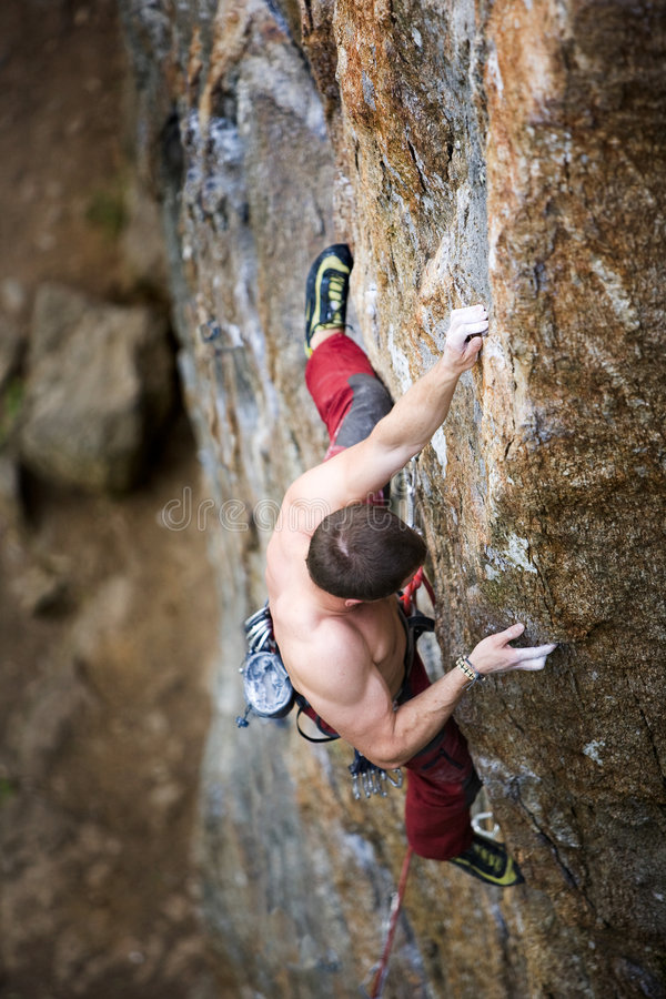 Male Climber stock photography