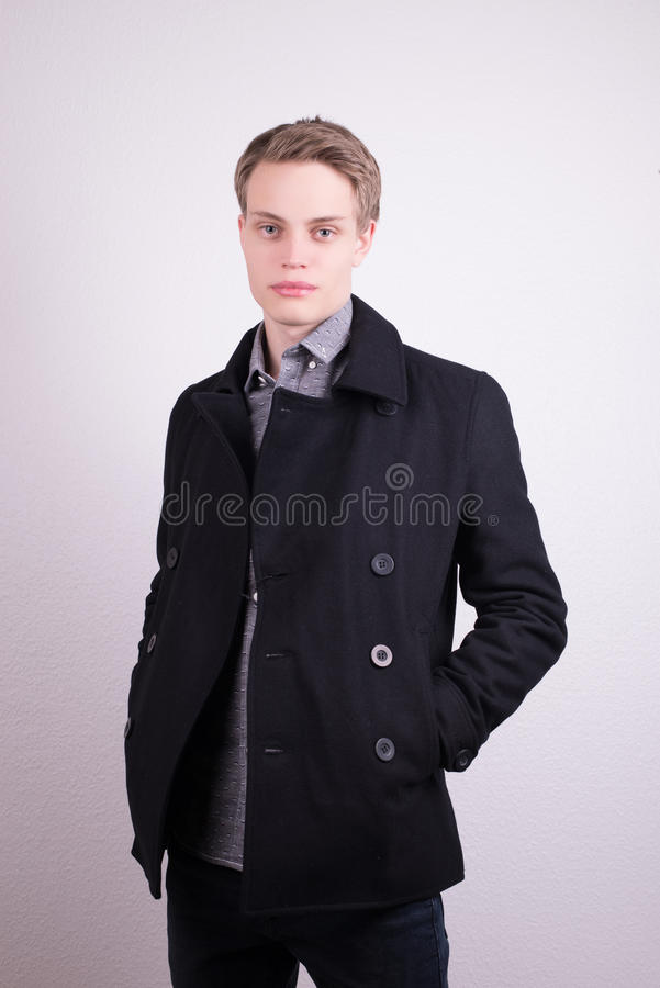 Male clothes model stock photo