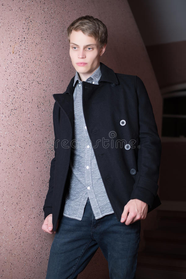 Male clothes model stock photography
