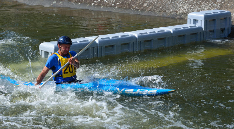 Male Competitor Kayak royalty free stock images