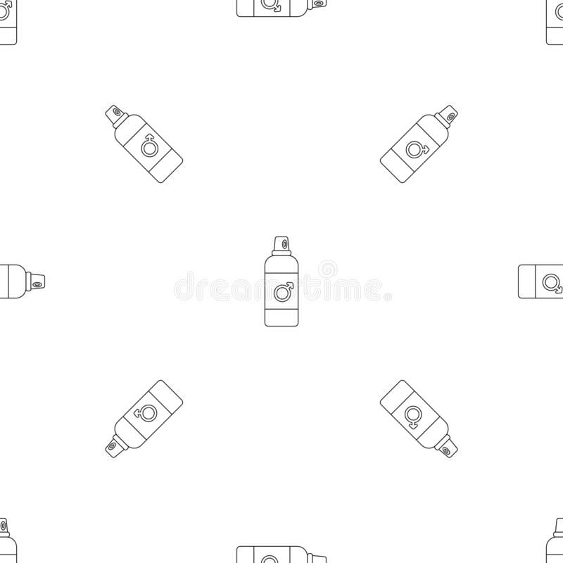 Male contraceptive spray pattern seamless vector. Repeat geometric for any web design stock illustration