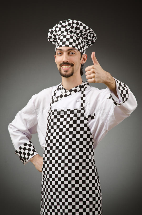 Download Male cook in the apron stock image. Image of dinner, fresh - 25114155