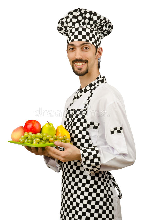 Male cook in the apron stock photography