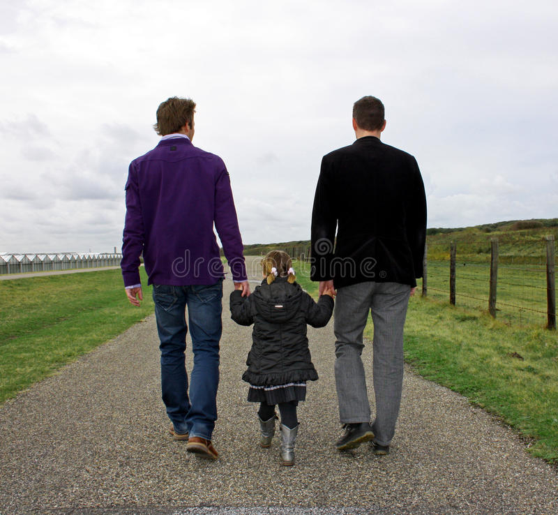 Free Male Couple With Child Royalty Free Stock Image - 11296266