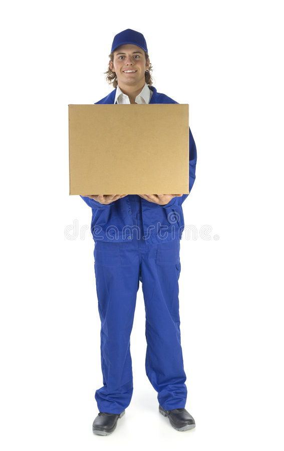 Male courier stock photography