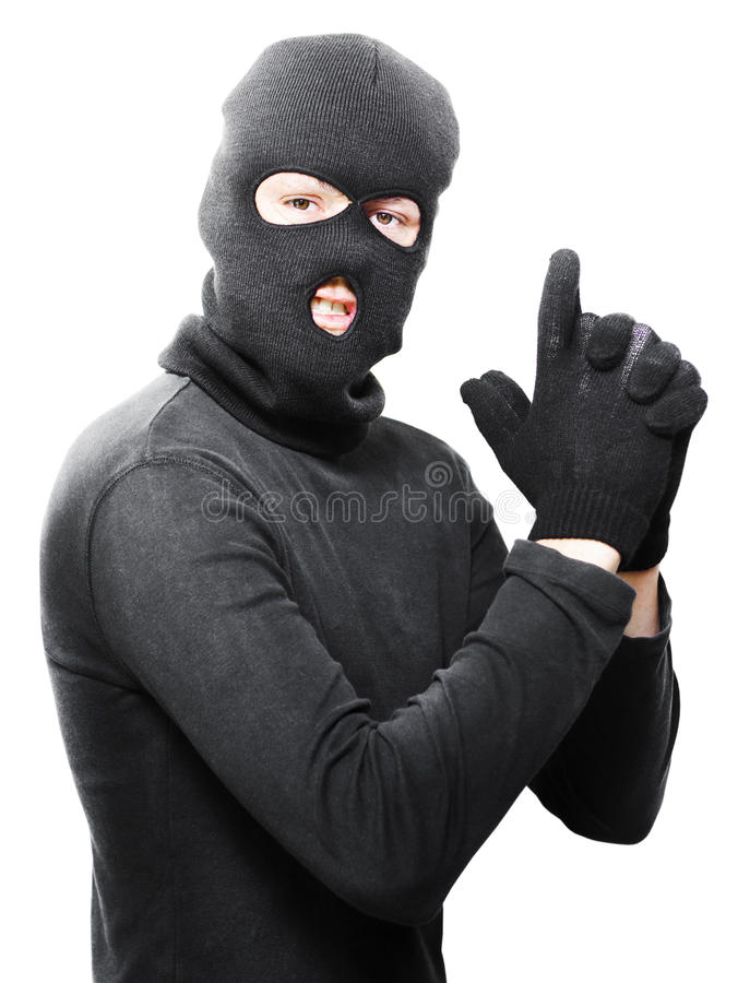 Download Male Criminal In Mask Making A Hand Gun Gesture Stock Image - Image of gangster, mafia: 25532525