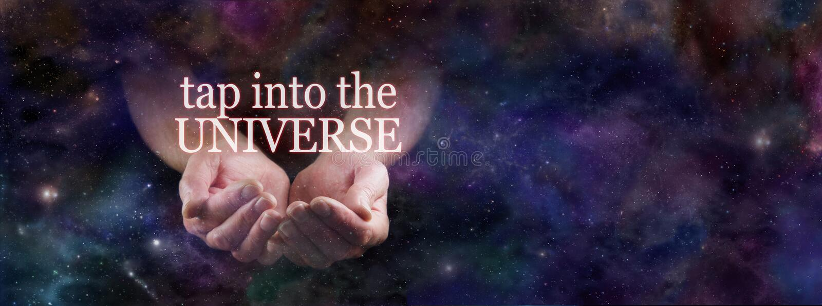 Tap Into the Power of the Universe stock photo