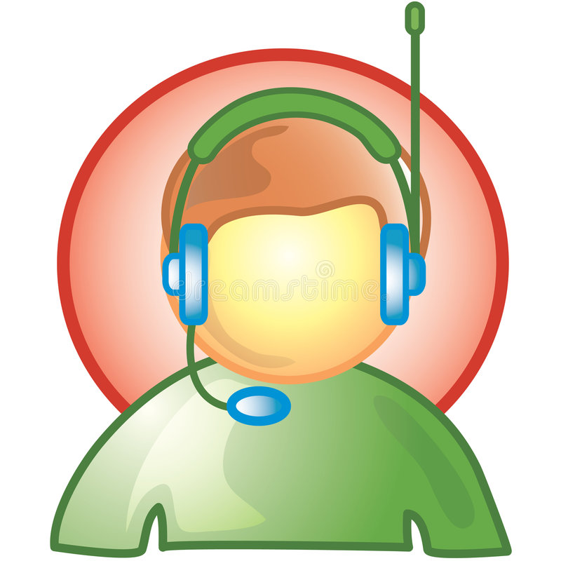Download Male Customer Service Icon stock photo. Image of phone - 2435398