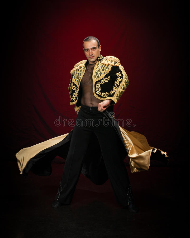 Male dancer. royalty free stock photography
