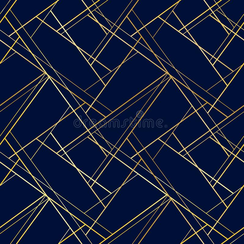 Male dark blue seamless pattern with golden cross lines royalty free illustration
